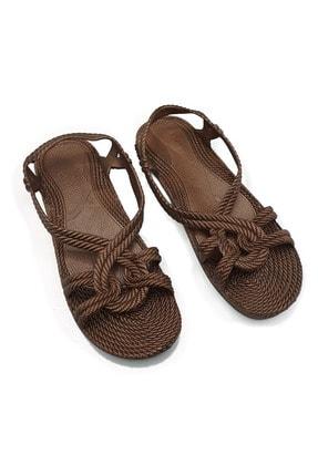 KAŞGAR Kadın Kahverengi Sandalet 0