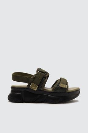 TRENDYOLMİLLA Haki Kadın Sandalet TAKSS21SD0024 2