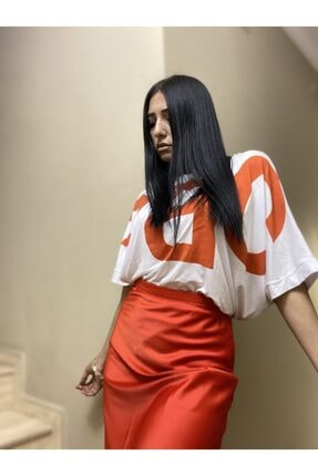 easechic Kadın Oversize Baskılı Tshirt 1
