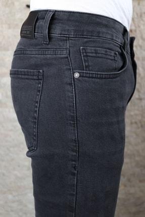 Collezione Collezıone Jeffrey Taşlamalı Slim Fit Antrasit Kot Pantolon 3