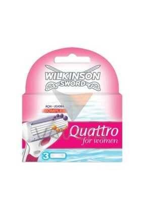 Wilkinson Quattro For Women 3Lü Yedek Tıraş 0
