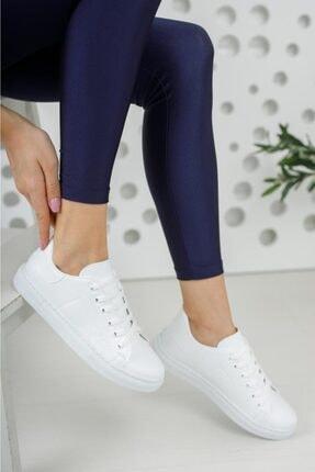 Moda Frato Unisex Beyaz Bağcıklı Günlük Spor Ayakkabı 0