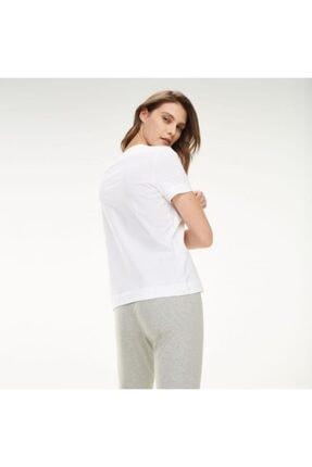 Tommy Hilfiger Kadın Beyaz New York Print Logo Women T- Shirt 4
