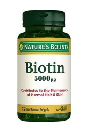 Natures Bounty Biotin 5000 Mcg 72 Kapsül 0