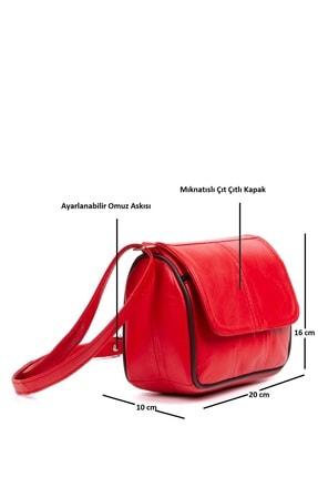Kindfox Hakiki Deri Mini Lüks Kapaklı Kadın Çapraz Ve Omuz Çantası   Yeni Model 1