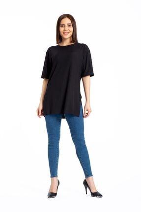 GİYSA Boyfriend Kaşkorse Siyah T-shirt 3683 2