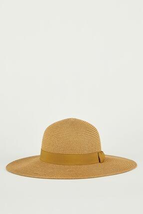 Defacto Şerit Detaylı Hasır Şapka 3