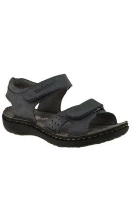 Toddler 01406 Çift Cırtlı Doğal Deri Gri Çocuk Sandalet 3 0