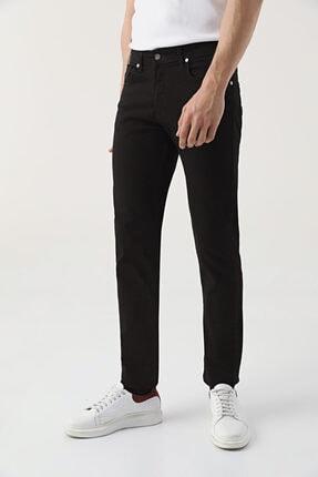 D'S Damat Slim Fit Siyah Düz Denim Pantolon 0