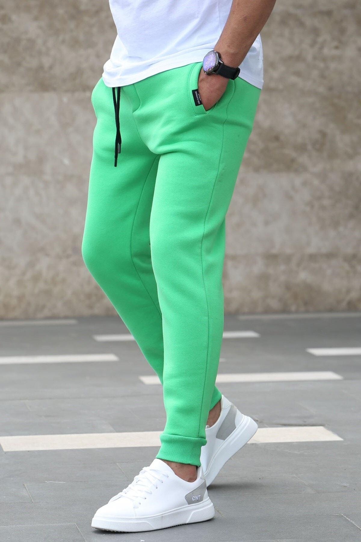 Erkek Yeşil Basic Eşofman 4210