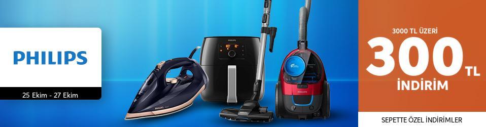 Philips Elektrikli Ev Aletlerinde Sepette 300 TL'ye Varan İndirimler