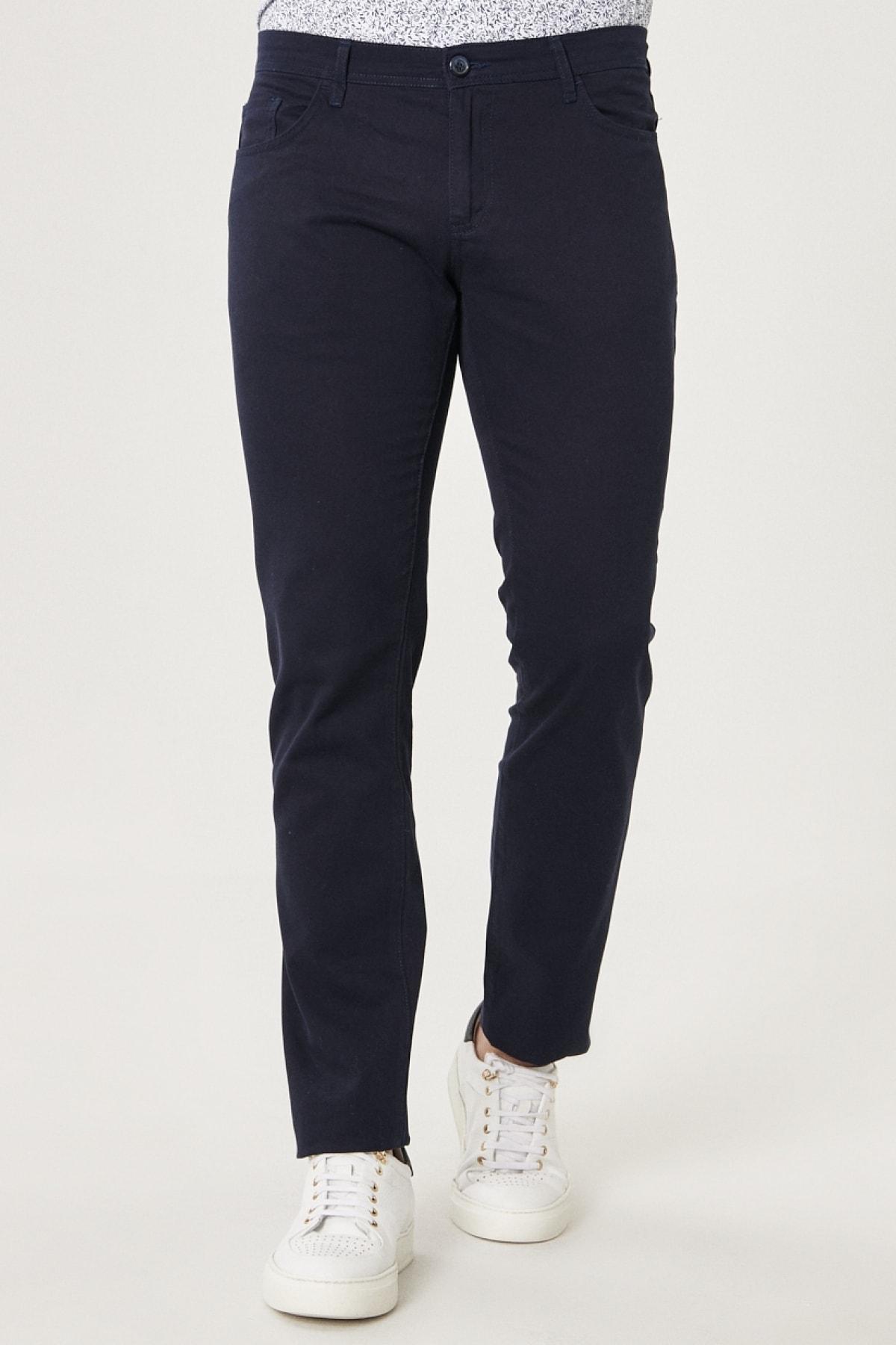 Kanvas Slim Fit Dar Kesim %100 Koton 5 Cep Pantolon
