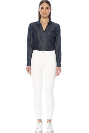 Network Kadın Optik Beyaz Denim Pantolon 1074636 1