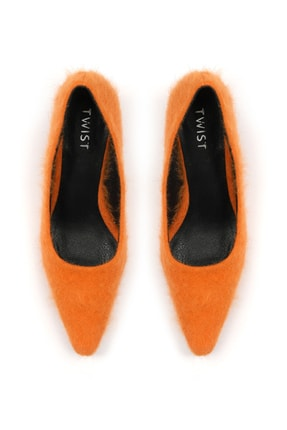 Twist Kadın Turuncu Kısa Topuklu Ayakkabı  TW6200031010 2