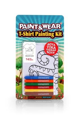 paint-wear Dinazor Ailesi Boyama T-shirt 7-8 Yaş 0