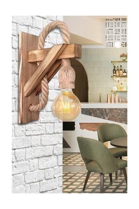 Zümra Ahşap Aplik Ahşap Aplik Duvar Lambası Cafe Otel Restorant Için Ahşap Aplik Duvar Lambası 2