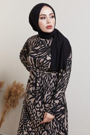 MODAEFA Kadın Siyah  Elbise 1
