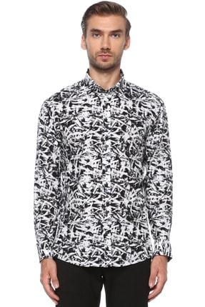 Network Erkek Siyah Beyaz Gömlek 1076237 0