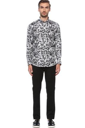 Network Erkek Siyah Beyaz Gömlek 1076237 1