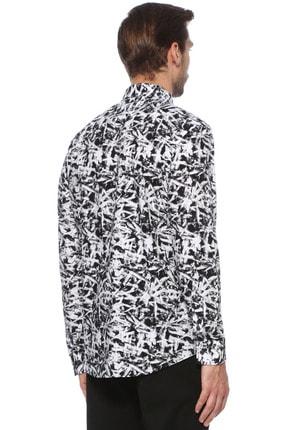 Network Erkek Siyah Beyaz Gömlek 1076237 2