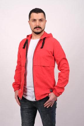GAMBA Erkek Kırmızı Kapüşonlu Fermuarlı Sweatshirt 2