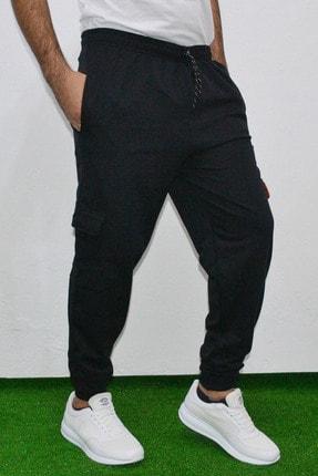 ANKAT NEVZAT TUNA Erkek Siyah Kargo Cep Pantolon 2