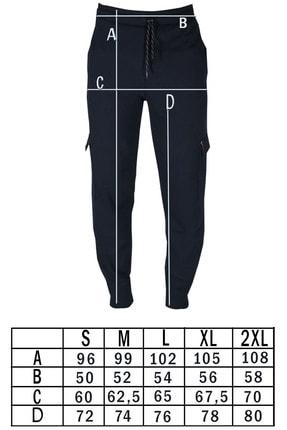ANKAT NEVZAT TUNA Erkek Siyah Kargo Cep Pantolon 3
