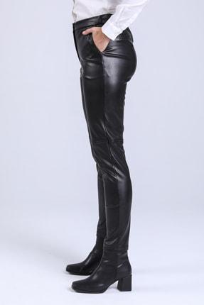 STEPS Kadin Siyah Deri Pantalon 2