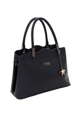 SheBella Bags & Shoes Sorrento Çift Bölmeli Yıldız Anahtarlıklı Siyah Renk Kadın Kol / Omuz Çantası 0