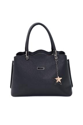 SheBella Bags & Shoes Sorrento Çift Bölmeli Yıldız Anahtarlıklı Siyah Renk Kadın Kol / Omuz Çantası 1