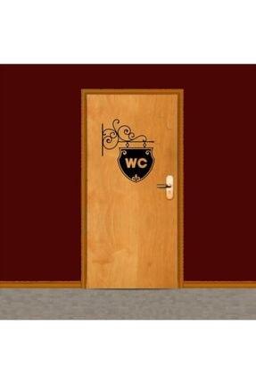 Erzline Siyah Wc Tuvalet Sticker Nq079 0