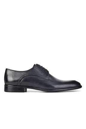 Cabani Erkek Siyah Antik Deri Klasik Ayakkabı 1