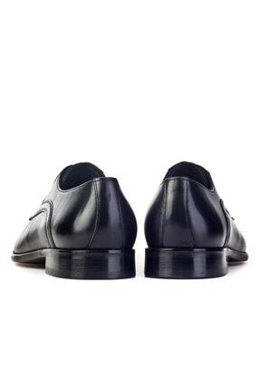 Cabani Erkek Siyah Antik Deri Klasik Ayakkabı 3