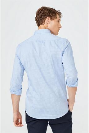 Avva Baskılı Düğmeli Yaka Slim Fit Garnili Gömlek 2