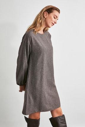 TRENDYOLMİLLA Kahverengi Basic Elbise TWOAW21EL2286 2