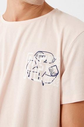 Koton Erkek Pembe T-Shirt 1KAM11165CK 4