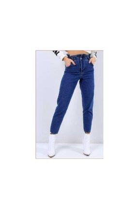 Beli Lastikli Mom Jean Yumuşak Kot Pantolon BLT01010