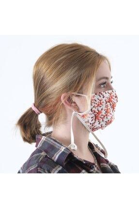 Dijimoda Renkli Batik Yıkanabilir Boyun Askılı Pamuklu Kumaş Maske 2