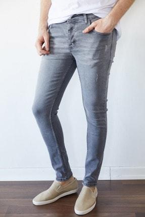 XHAN Gri Slim Fit Jean Pantolon 1kxe5-44256-03 0