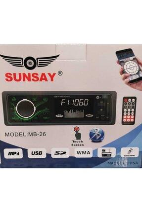 Universal Sunsay Mb-26 Dokunmatik Ekran Bluetootlu Telefon Şarj Edebilme 2