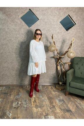 EFKEYEM OFFİCİAL Kadın Beyaz Elbise 3