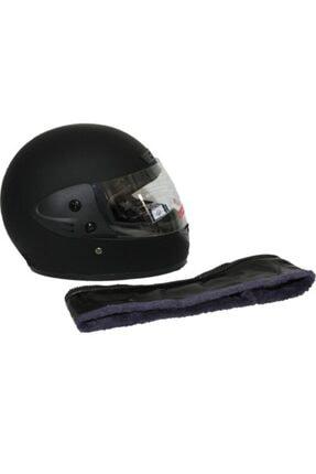 Monero Mat Siyah Renk - Sök Tak Boyun Derili Kalitesinde Tam Kapalı Kask 1