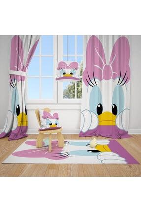 CİCİ TASARIM ÜRÜNLERİ 1 Kanat Dufy Duck Çocuk Bebek Odası Perdesi Fon Perde 0
