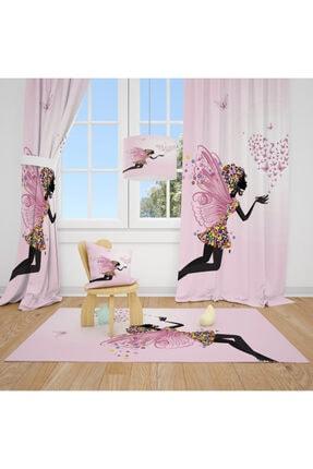 CİCİ TASARIM ÜRÜNLERİ 1 Kanat Peri,kelebek,kalp Çiçek Çocuk Bebek Odası Perdesi Fon Perde 0