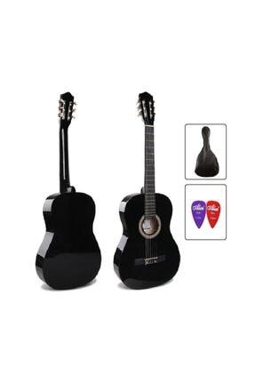 müzikhane 4/4 Tam Boy Siyah Klasik Gitar Kılıf Ve Pena 0