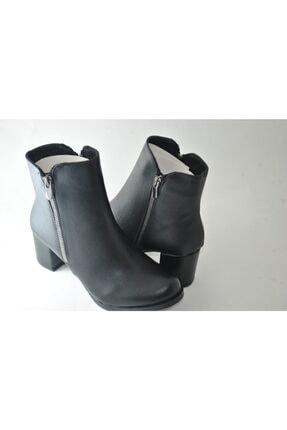 BELPİNO Kadın Siyah Topuklu Bot 2