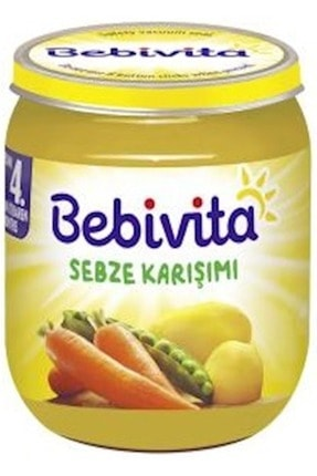 Bebivita Kavanoz Maması Karma Koli 12 Li Set (sebze Karışımı- Elma Püresi) 1