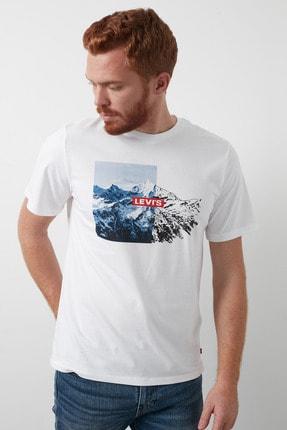 Levi's Baskılı Bisiklet Yaka % 100 Pamuk T Shirt Erkek T Shirt 16143 3