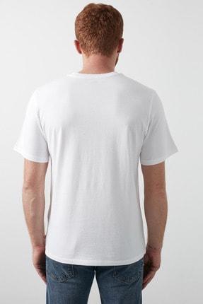 Levi's Baskılı Bisiklet Yaka % 100 Pamuk T Shirt Erkek T Shirt 16143 4