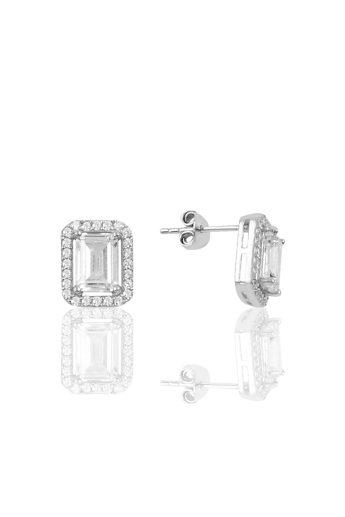 Söğütlü Silver Gümüş Baget Taşlı İkili Set Sgtl10059Rodaj 2